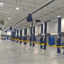 Photo of new service bay installation by Auto Service Aids